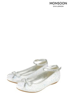 Monsoon Anya Magical Glitter Ballerinas