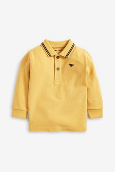 Long Sleeve Plain Poloshirt (3mths-7yrs)