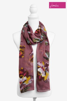 Joules Purple Wensley Long Line Woven Scarf