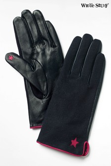 Niebieskie rękawiczki skórzane White Stuff Lucy