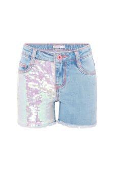 Billie Blush Girls Blue Shorts
