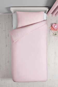 Easy Care Plain Dye Duvet Cover and Pillowcase Set