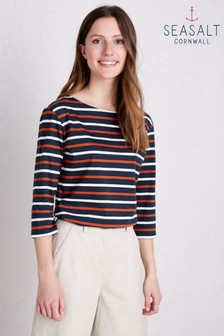 Seasalt Black Duet Magpie Cinnamon Sailor Top