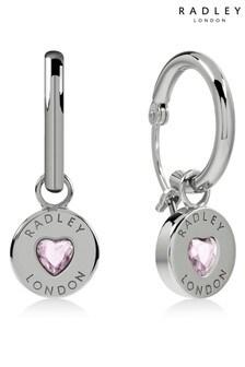 Radley Sterling Silver Heart Stone Earrings