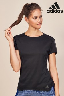 adidas Black Short Sleeve Running Tee