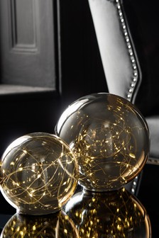 Set of 2 Smoked Ball Decorative Feature Lights