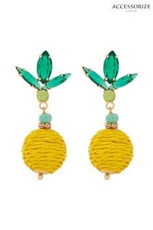 Accessorize Yellow Ciao Bella Lemon Earrings