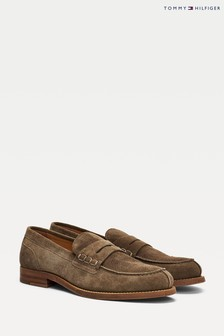 Tommy Hilfiger Brown Suede Loafers