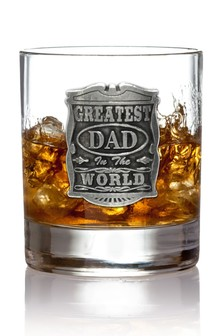 Greatest Dad In The World Glass Tumbler 11oz