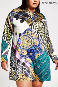 River Island Scarf Print Devito Shirt Dress