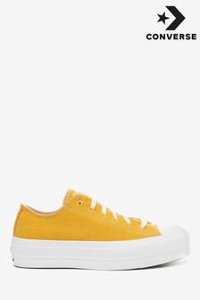 Converse Chuck Renew Cotton Canvas Lift Trainers