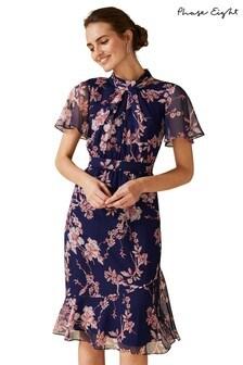 Phase Eight Purple Maya Printed Dress