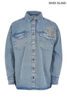 Джинсовая рубашка с карманом River Island