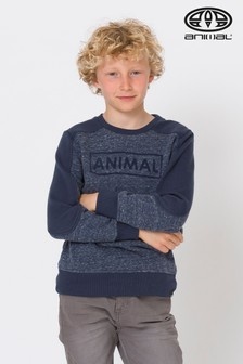 Animal Indigo Blue Troop Crew Sweater