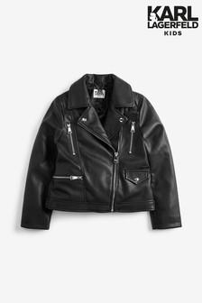 Karl Lagerfeld Kids Leather Jacket