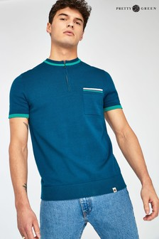 Pretty Green Blue Wenn Knitted Top