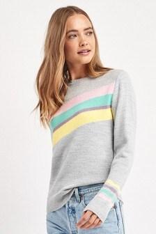 Multicoloured Stripe Jumper