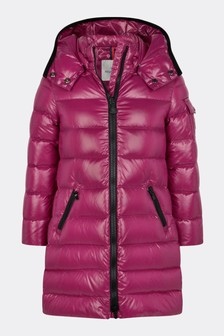 Girls Red Down Padded Moka Coat