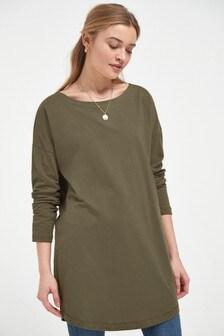 Relaxed Long Sleeve T-Shirt Dress