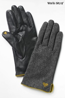 White Stuff Grey Lucy Leather Gloves