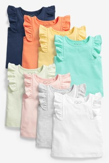 8 Pack GOTS Organic Cotton Basic Vests (3mths-7yrs)