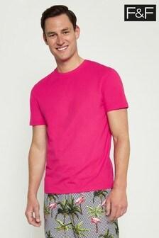 F&F Pink Crew T-Shirt