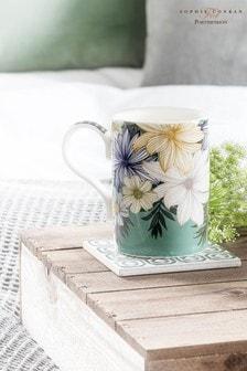 Set of 4 Portmeirion Atrium Floral Mugs