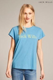 Jack Wills Pale Blue Forstal Boyfriend T-Shirt