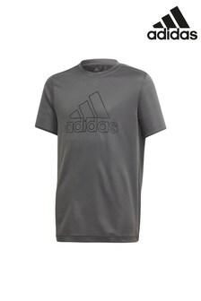 adidas Performance Grey Heat Ready Running T-Shirt