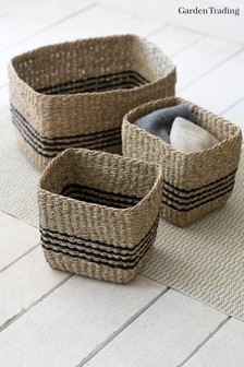 Set of 3 Striped Baskets by Garden Trading