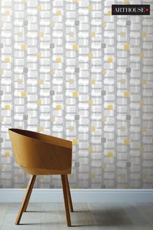 Arthouse Retro Block Geo Wallpaper