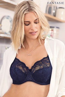Fantasie Navy Jacqueline Lace Underwired Full Cup Bra