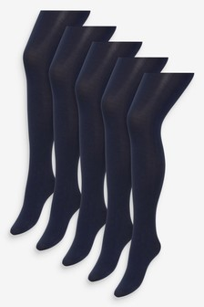 Basic Opaque 100 Denier Tights Five Pack