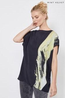 Mint Velvet Megan Print Cocoon T-Shirt