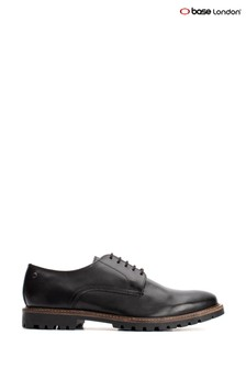Base London® Black Hogan Waxy Lace-Up Shoes