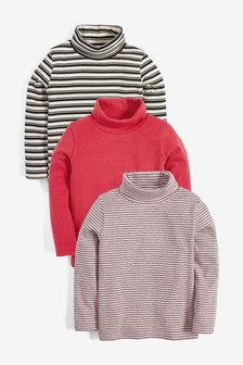 3 Pack Roll Neck Tops (3mths-7yrs)