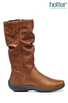 Hotter Derrymore Zip Fastening Calf Boots