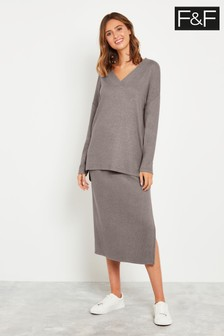 F&F Neutral Mocha Rib Skirt