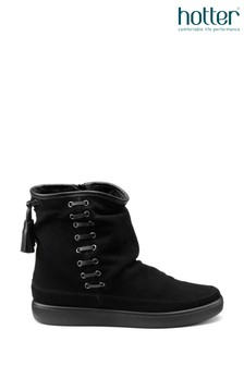 Hotter Pixie Zip Fastening Suede Ankle Boots