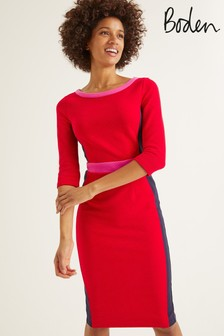 Boden Red Leah Ottoman Dress