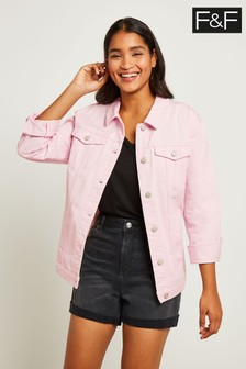 F&F Pink Oversized Denim Jacket