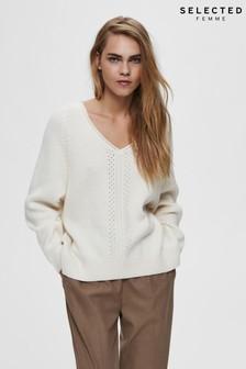 Selected Femme V-Neck Knit Top
