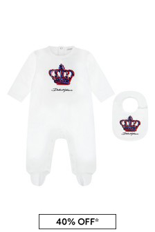 Dolce & Gabbana Kids Baby Boys White Gift Set