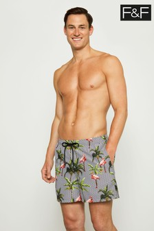 F&F Multi Flamingo Zig Zag Swim Shorts