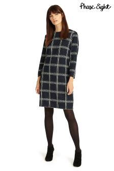 Phase Eight Navy/Ivory Sybil Sketched Check Tunic
