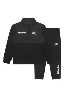 Boys Black Fleece Nike Air Tricot Tracksuit
