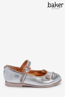Baker By Ted Baker Silver Rose Gold Cat Mary Jane Shoes
