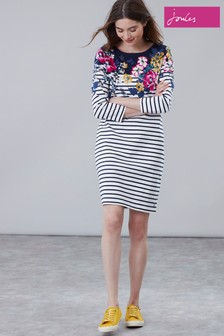 Joules Rivera Print 3/4 Sleeve Jersey Dress