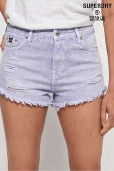 Superdry Eliza Cut Off Denim Shorts