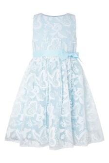 Monsoon Blue Sophia Butterfly Lace Dress